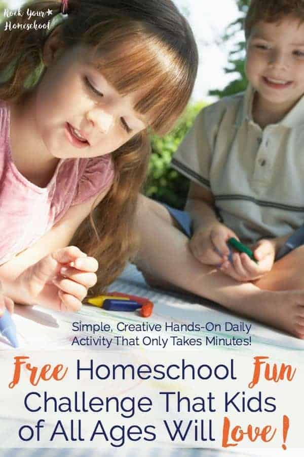 Want an EASY way to have daily HOMESCHOOL FUN? Join our FREE challenge that will spark creativity with simple hands-on learning fun with zero prep work! Learn more & grab your free printable.
