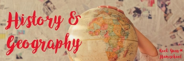 Check out this list of free printables for history & geography in your homeschool.
