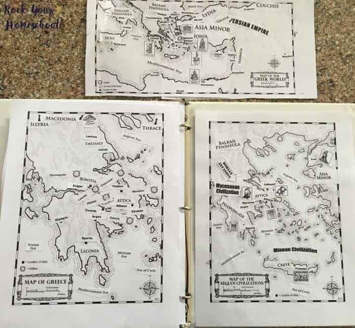 Map work and geography is part of the learning fun with this hands-on history curriculum.