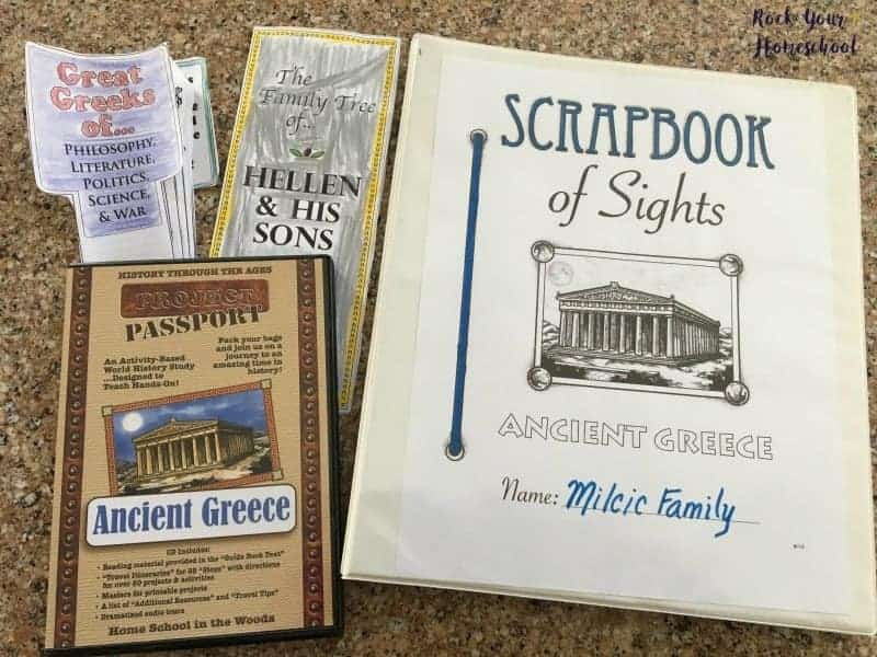 Project Passport: Ancient Greece from Home School in the Woods is a wonderful hands-on history curriculum. Here are a few examples of what my boys have made.